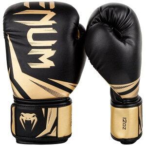 【ポイント10倍!! 12/4 20:00〜12/11 01:59】 VENUM ボクシンググローブ CHALLENGER 3.0 (ブラック×ゴールド) //スパーリンググローブ ボクシング キックボクシング フィットネス ボクササイズ 送料