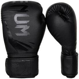 VENUM ボクシンググローブ CHALLENGER 3.0 (ブラック×ブラック) //スパーリンググローブ ボクシング キックボクシング フィットネス ボクササイズ 送料無料