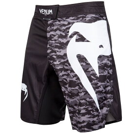 VENUM ファイトショーツ Light 3.0 Fightshorts (ブラック×アーバンカモ) //ハーフパンツ トレーニングショーツ トレーニング 格闘技 吸汗速乾 送料無料