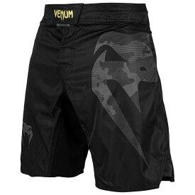 VENUM ファイトショーツ Light 3.0 Fightshorts (ブラック×ゴールド) //ハーフパンツ トレーニングショーツ スポーツ トレーニング 格闘技 吸汗速乾 送料無料