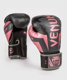 VENUM ボクシンググローブ ELITE BOXING GLOVES (ブラック×ピンクゴールド) //スパーリンググローブ ボクシング キックボクシング フィットネス 送料無料