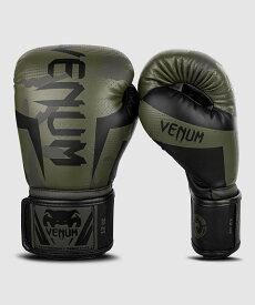 VENUM ボクシンググローブ ELITE BOXING GLOVES (カーキ×カモ) //スパーリンググローブ ボクシング キックボクシング フィットネス 送料無料