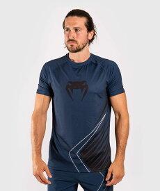 【エントリーでポイント10倍!!】VENUM DRY Tシャツ CONTENDER 5.0 DRY-TECH T-SHIRT (ネイビー×サンド) //吸汗速乾 ルーズタイプ ワークアウト スポーツウェア トレーニングウェア 送料無料