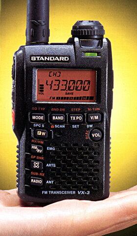 【エントリーでポイント5倍】【即納】【送料無料】VX-3 八重洲無線(旧V.スタンダード) 144/430MHz帯 コンパクトハンディ機 アマチュア無線機 VX3