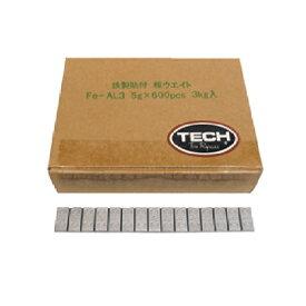 送料無料 TECH バランスウエイト 貼り付け 5g刻み 3kg ロール テック プロ用 汎用 業者 ウェイト バランスウェイト 貼付ウェイト バランス調整