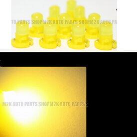 LED T4.2 T3 エアコン メーター スイッチ インジゲーター ポジション 球 超拡散 全面発光 COB タイプ イエロー 黄 汎用品 4個 タント ヴィッツ フィット アルト アルファード ステージア セリカ ワゴンR 送料無料