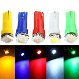 LED T5 T6.5 エアコン メーター スイッチ インジゲーター ポジション 球 180 直進性 発光 SMD タイプ ブルー 青 汎用品 2個 送料無料