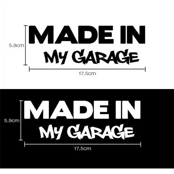 MADE in MY GARAGE メイド イン マイ ガレージ ヘラフラ スタンス ステッカー 1枚 走り屋 JDM usdm 環状 自家製 プライベーター 送料無料