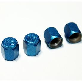送料無料 TECH N2 窒素 バルブキャップ エアバルブキャップ エアーバルブ 4個 ブルー 青 送料込み カラー 窒素ガス充填バルブ BC15-N2BL