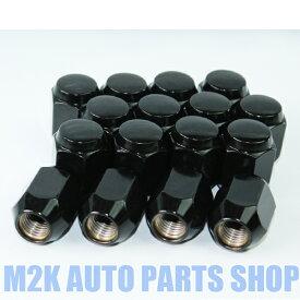 ブラックナット P1.5 21HEX M12 袋タイプ 60度テーパー 16個 送料無料 トヨタ ダイハツ マツダ ミツビシ 汎用 アクア ヴィッツ