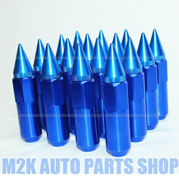 スパイク ナット JDM USDM アルミ 60 送料無料 P1.5 20個 ブルー
