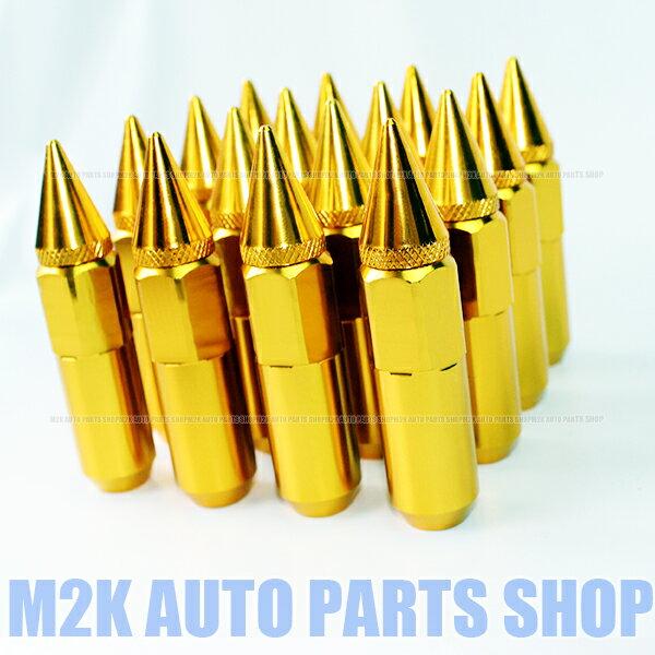 スパイク ナット JDM USDM アルミ 60 送料無料 P1.25 20個 ゴールド