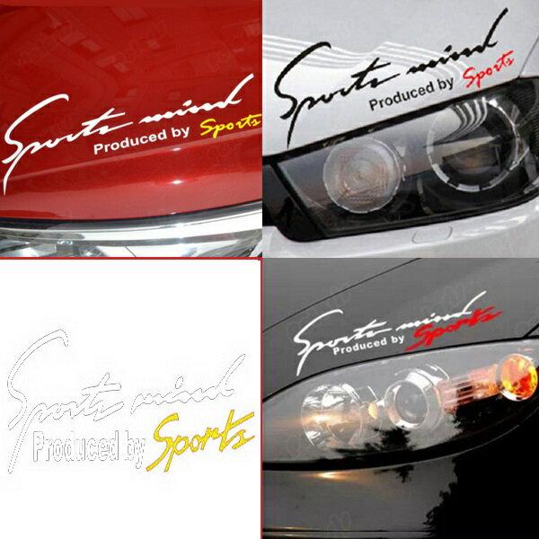 Sports Mind スポーツ マインド JDM usdm ステッカー ヘラフラ スタンス 1枚 ブラック レッド ホワイト ゴールド 送料無料 シルビア シビック エボ インプ 86 BRZ スイフト