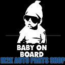Baby on Board 赤ちゃんが乗っています ヘラフラ 反射 ステッカー ちょいワル キッズ サングラス スタンス 1枚 送料無料 BIGサイズ ポルテ ...