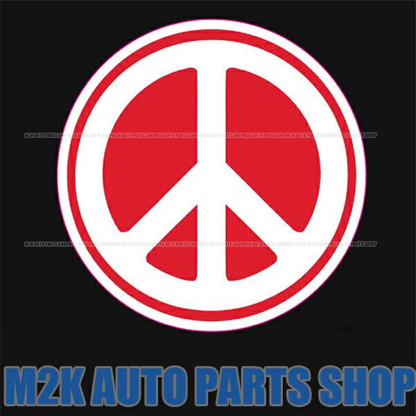 ヘラフラ スタンス ステッカー 1枚 ピースマーク 平和 反戦 usdm 送料無料 レッド ミラ ライフ ザッツ ミニカ N-ONE