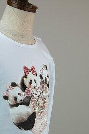 T-shirt T-shops【Tシャツ Tショップ】スワロフスキー Tシャツ2A〜14A(身長約90cm〜150cm) 子供服 キッズ インポート スワロフスキー Tシャツ 男の子 女の子 秋冬 長袖Tシャツ ロンT Made in Italy イタリア製 WHITE ホワイト