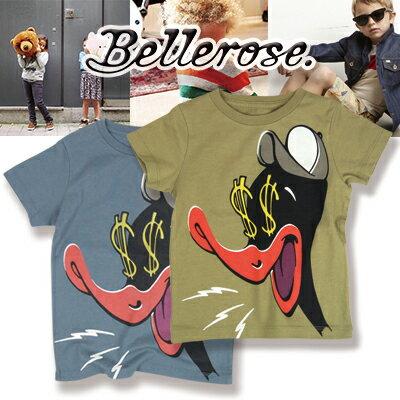 Bellerose [ベルローズ] KIDS キッズ プリント 半袖Tシャツ メタル カーキ 2歳~16歳(104cm〜170cm)子ども Tシャツ 半袖 Tシャツ