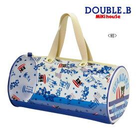 【セール30%OFF】【メール便不可】【DOUBLE B ダブルビー】トロピカル柄☆ドラム型ビーチバッグ(プールバッグ)ミキハウス