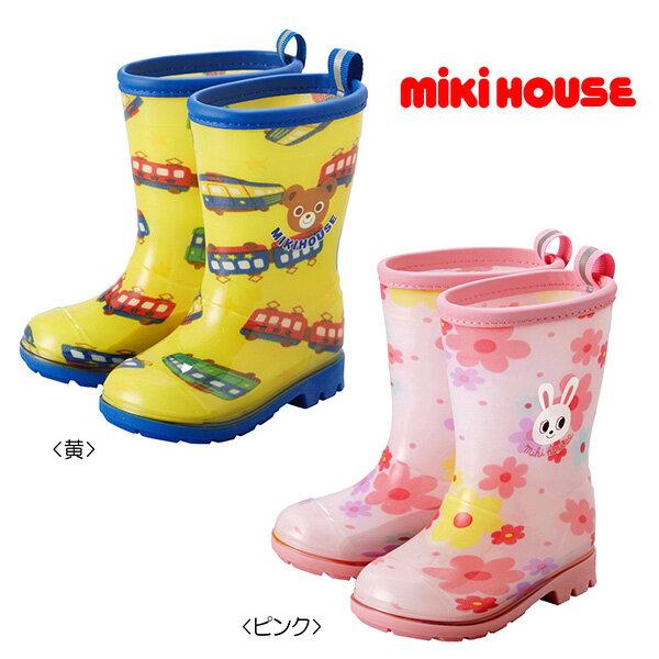 【メール便不可】【MIKIHOUSE ミキハウス】プッチー&うさこ☆レインブーツ(長靴)(13cm-17cm)