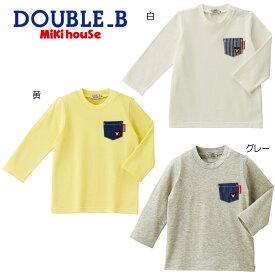 【セール30%OFF】【メール便OK】【Everyday DOUBLE B エブリデイダブルビー】デニムポケット付き長袖Tシャツ(80cm-150cm)ミキハウス