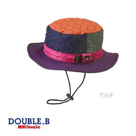 【スペシャルプライスセール!】【メール便OK】【DOUBLE B ダブルビー】星柄&カモフラ柄サファリハット(帽子)(48cm-56cm)ミキハウス