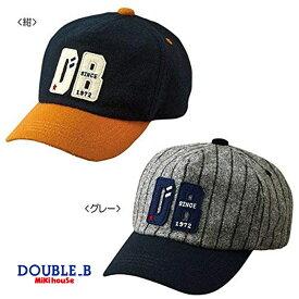 【【スペシャルプライスセール!】【メール便不可】【DOUBLE B ダブルビー】ウール素材のオータムキャップ(帽子)〈S-L(48cm-54cm)〉ミキハウス
