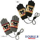 【セール30%OFF】【メール便OK】【DOUBLE B ダブルビー】ノルディックベア★5本指手袋