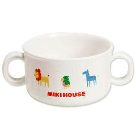 【メール便不可】【MIKIHOUSE FIRSTミキハウスファースト】ベビー用プチアニマル☆取っ手付きスープカップ【出産祝い・ギフトに】