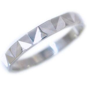 ホワイトゴールドk10 ダイヤカット加工 ペアリング 結婚指輪 ピンキーリングにおすすめ K10wg 指輪