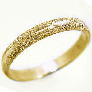 ゴールドk10 スターダスト加工 ペアリング 結婚指輪 ピンキーリングにおすすめ K10yg 指輪