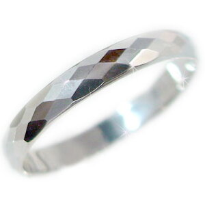 プラチナ ダイヤカット加工 ペアリング 結婚指輪 ピンキーリングにおすすめ Pt900 指輪【送料無料】