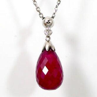 Ma38 rakuten global market ruby necklace diamond briolette ruby necklace diamond briolette ruby pendant white gold k18 natural ruby aloadofball Gallery