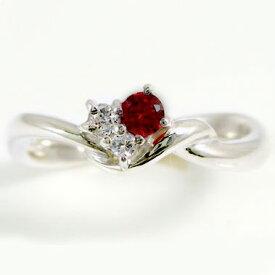 ルビー リング ピンキーリング プラチナ900 ダイヤモンド Pt900 指輪 天然ルビー 7月誕生石【送料無料】