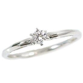 婚約指輪 エンゲージリング プラチナ900 立爪 ダイヤモンドリング Pt900 指輪 ダイヤ 0.1ct VSクラス ブライダル【送料無料】