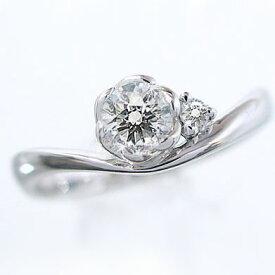 婚約指輪 エンゲージリング ダイヤモンド 0.3ct G SI2 Good 鑑定書付 脇ダイヤ 0.03ct 指輪 プラチナ900 PT900 ダイヤ指輪【送料無料】