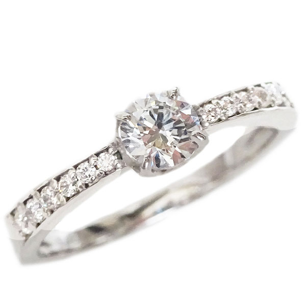 婚約指輪 エンゲージリング ダイヤモンド 0.3ct E VVS2 EX H&C 鑑定書付 指輪 プラチナ900 脇ダイヤ 0.1ct PT900【送料無料】
