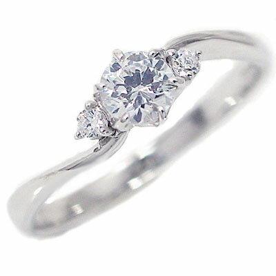 婚約指輪 エンゲージリング ダイヤモンド 0.3ct D VVS1 3EX H&C 鑑定書付 プラチナ900 脇ダイヤ 0.04ct PT900 ダイヤ 指輪【送料無料】