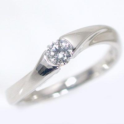 婚約指輪 エンゲージリング ダイヤモンド 0.2ct G SI2 Good 鑑定書付 ホワイトゴールド K18 ダイヤリングK18wg ブライダル【送料無料】