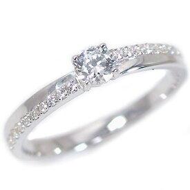 婚約指輪 プラチナ エンゲージリング ダイヤモンド 0.2ct D VS2 EX 鑑定書付 ダイヤリング Pt900 脇ダイヤ 0.1ct【送料無料】