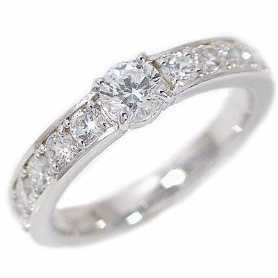 婚約指輪 エンゲージリング ダイヤモンド 0.3ct E VVS1 3EX H&C 鑑定書付 指輪 プラチナ900 脇ダイヤ 0.6ct PT900 ダイヤ指輪【送料無料】