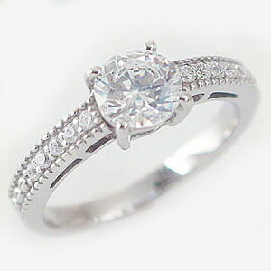 婚約指輪 エンゲージリング ダイヤモンド 1.0ct D VS1 Excellent 鑑定書付 大粒 ダイヤモンドリング 1カラット プラチナ900 PT900 ダイヤ 1ct 指輪【送料無料】