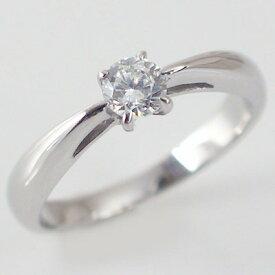 婚約指輪 プラチナ エンゲージリング ダイヤモンド 0.4ct F VVS1 Excellent 鑑定書付 4本爪 立爪 ダイヤリング Pt900【送料無料】