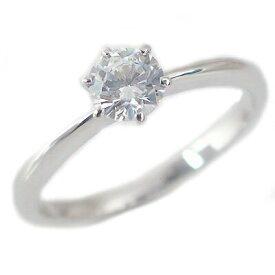 婚約指輪 プラチナ エンゲージリング ダイヤモンド 0.4ct E VS1 Excellent 鑑定書付 6本爪 立爪 ダイヤリング Pt900 ブライダル【送料無料】
