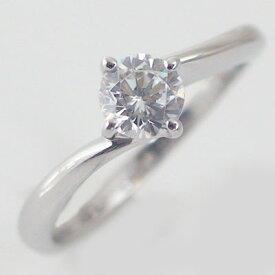 婚約指輪 プラチナ エンゲージリング ダイヤモンド 0.5ct D VVS1 3EX H&C 鑑定書付 4本爪 ダイヤリング Pt900【送料無料】