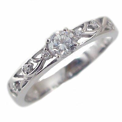 婚約指輪 エンゲージリング ダイヤモンド 0.3ct F VS2 EX 鑑定書付 指輪 プラチナ900 脇ダイヤ 0.05ct PT900 ダイヤ指輪【送料無料】