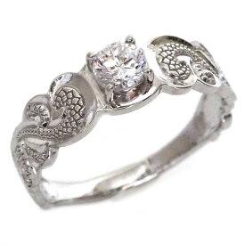 ハワイアンジュエリー 指輪 ホワイトゴールドk10 リング ダイヤモンド K10wg カレイキニ【送料無料】