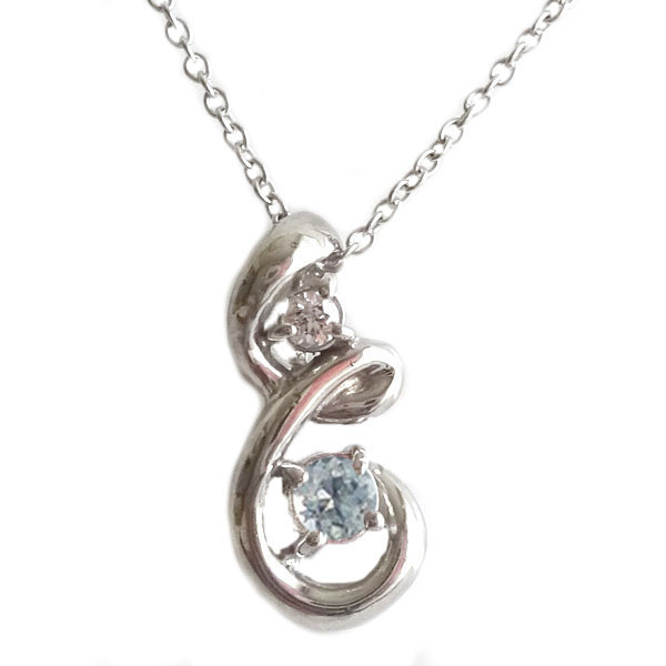 シルバー ペンダント ネックレス 6月誕生石 ブルームーンストーン SV 人工石 キュービックジルコニア