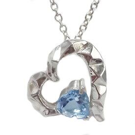 ハート シルバー ペンダント ネックレス 選べる宝石 誕生石 SV925 天然石 ガーネット