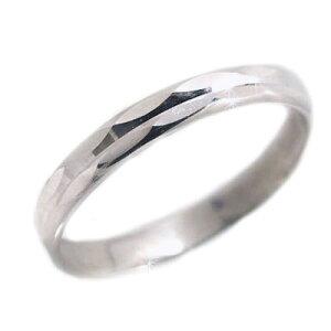 プラチナ リング Pt900 指輪 ダイヤカット加工 ペアリング 結婚指輪 ピンキーリングにおすすめ