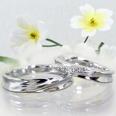 シルバー ペアリング 結婚指輪 マリッジリング ペア2本セット 天然ダイヤモンド リング SV925 指輪 ダイヤ 0.02ct